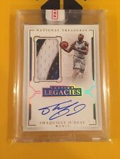 2015-16 National Treasures Shaquille O'Neal Lasting Legacies Patch Auto 7/10