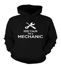 Keep Calm I'm a Mechanic Hoodies, Work Wear Hoody, Custom Printed Hoodies, S-XXL