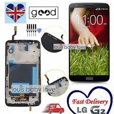 For LG G2 D802 Optimus Full LCD Display Touch Screen Digitizer & Frame Black UK