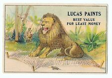 Lucas Paints Victorian Trade Card Netted Lion Mouse