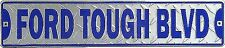 FORD TOUGH BLVD Street Road Sign Ford Truck Garage Tin Signs 60.9x13.9cm
