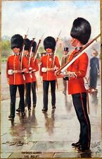 1910 Artist-Signed Tuck Military Postcard: British Army- Scots Guards, Relief