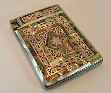 VINTAGE SUPER RARE MOTHER OF PEARL COMBINATION CIGARETTE CASE LIGHTER AUSTRIA