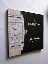 HORLOGES MONTRES: CATALOGUE DE GRISOGONO GENEVE for ladies only 2007