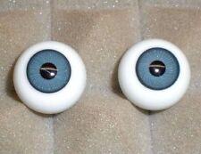 Glasaugen antik blau 21 kleinere Iris/ dolls eyes of glass blue 21 smaller iris