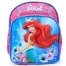 "Disney Little Mermaid Ariel School Backpack 10"" Toddler Girls Bag Colorful Shell"