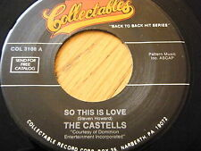 """THE CASTELLS - SO THIS IS LOVE / SACRED  7"""" VINYL"""