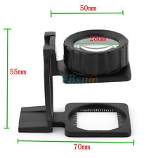 15X Portable Foldable Magnifier Stand Magnifying Glass Lens Loupe Measure Scale