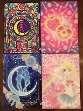 Sailor Moon Crystal 7-11 Ice Cream A5 Clear File Folder Set Uranus Neptune Chibi