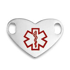1 Inch Stainless Steel Large Medical Symbol ID Tag - CR1947