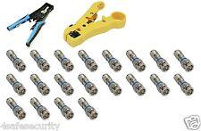 Coax Compression tool (RG59 RG6 F BNC RCA ) & Stripper Tool  )&20pcs connector