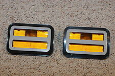 1971 Dodge Charger Superbee Amber Front Side Lamp Marker Lenses lens mopar