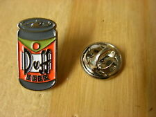 Duff Beer can pin badge.The Simpsons. Homer Simpsons beer