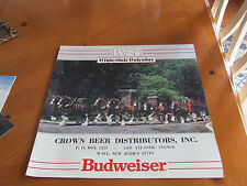 Budweiser Beer collectible Clydesdale Calendar 1987 Beautiful pictures  (Unused)