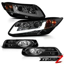 [TITANIUM SMOKE] 2012 2013 Honda Civic Coupe 2D EX DX LX Si Headlight +Foglights