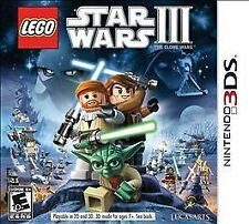 LEGO Star Wars III: The Clone Wars (Nintendo 3DS, 2011) COMPLETE GAME BOX NES HQ