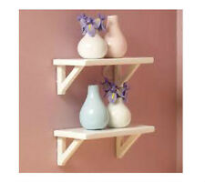 Dolls House Furniture :  Set of Two White Wall Shelves 7cm x 3cm  in 12th scale