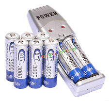 8 AA + USB Charger Ni-MH AA / AAA batteria ricaricabile