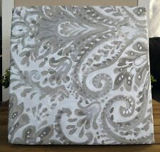 Tahari Taupe Beige Gray Silver Moroccan Paisley Damask 3pc KING DUVET Cover SHAM