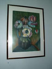 """Lithographie de TOFFOLI -""""Vase de fleurs"""" , signée, numérotée 4/150"""
