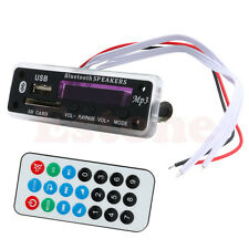 Car Wireless Bluetooth 12V MP3 WMA Decoder Board Audio Module USB TF Radio New