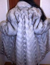 Saga Fox abrigo de piel azul zorro abrigo de piel zorro polar Blue Fox fur Coat