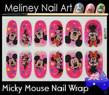 Micky Mouse Full Cover Glitter Nail Art Wrap Stickers Pattern cartoon Disney