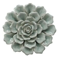 Benzara 64881 Porcelain And Ceramic Antiqued Flower Wall Decoration Art Decor