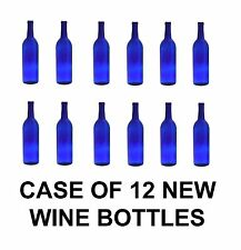 WINE BOTTLES COBALT BLUE  BORDEAUX NEW CASE OF 12 750ml - MAKING HOMEBREW?