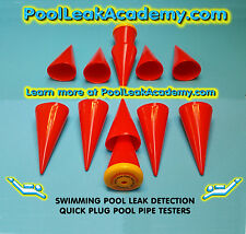 Swimming Pool Leak Detection: 6 dye testing cones- quick plug pool pipe testers