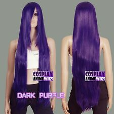 100cm Dark Purple Heat Styleable long Cosplay Wigs  85_3737
