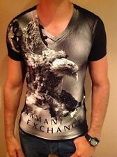 NEW MENS ARMANI EXCHANGE T SHIRT BODY TIGHT SLIM FIT BLACK MEDIUM EXCLUSIVE