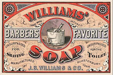 Framed Trade Card Print – Barbers Favourite Williams Soap (Antique Picture Art)