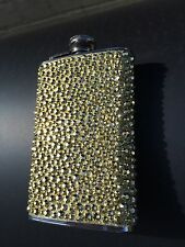 GOLD DIAMONTE BLING 5oz Hip Flask  Stainless Steel New