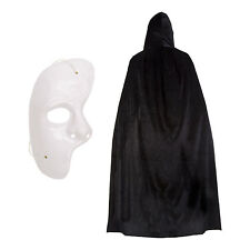 Phantom of the Opera Halloween Fancy Dress Set (Mask & Polyester Cape)
