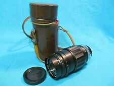 EXA EXAKTA KOMURA SANKYO KAKI 135mm f3.5 TELEPHOTO LENS WITH CASE