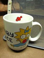 SIMPSONS coffee mug BABY FACE cartoon Maggie Simpson pacifier w/ box 1990