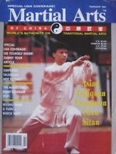 2/91 MARTIAL ARTS OF CHINA MAGAZINE CHEN SITAN BLACK BELT KARATE KUNG FU