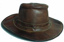 Indian Pure original Goat Leather Cow Boy Hat Brown Color