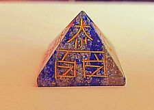Reiki Energy Charged Natural Lapis Lazuli Reiki Sign Engraved Pyramid Healing