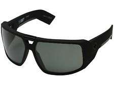 Spy Touring Sunglasses - Soft Matte Black - Happy Grey Green Polar - New