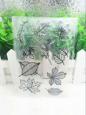Leaves Silicone Clear Stamp Seal DIY Diary Scrapbooking Album Note Craft