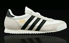 NEW ADIDAS MEN'S ORIGINALS SIZE 10 DRAGON S81909 WHITE BLACK SNEAKERS MENS