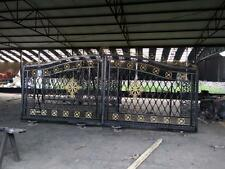 BEAUTIFUL HAND MADE IRON AND CAST IRON ESTATE DRIVEWAY GATES - DG74