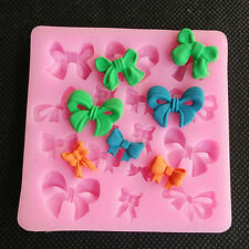 Hot Moden Bows Silicone Mold Mould Fimo Resin Polymer Clay Sugarcraft Fondant