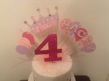 Large CrownAnd Stars cake topper made with your choice Of age & Name