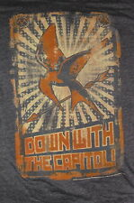 """""""Down with the Capital – Mocking Jay"""" T-Shirt Movie Film Promotional Item(S)"""