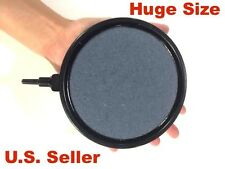 Aquarium Fish Tank Air Stone Diffuser Bubble Disk Plate Large Black Trim