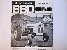 Vintage 1960's David Brown 880 3 Plow Selectamatic Diesel Tractors Brochure