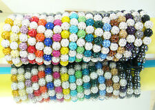 10x Mix Disco Ball Clay Cz beads for shambala Woven bracelet charm Gift #1